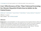 Universal Hepatitis B screening of adults in the US is cost-effective and likely cost-saving