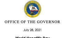 California Governor Gavin Newsom's World Hepatitis Day Proclamation