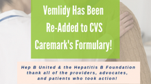 CVS To Return Vemlidy To List of Covered Prescriptions