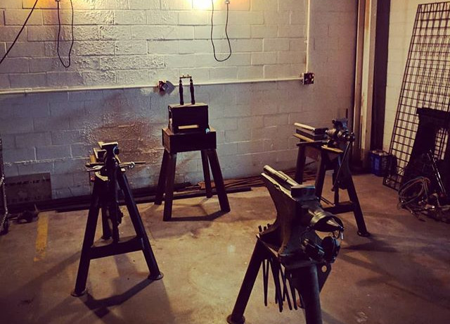 Blacksmithing basics class is ready and