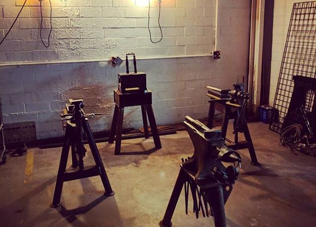 Blacksmithing basics class is ready and