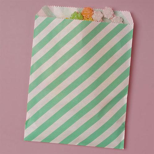 Teal Stripe Bags