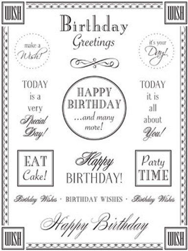 55001 Birthday Fancy Sticker Sentiment