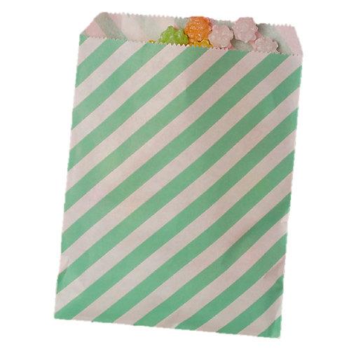 Patterned Bags - LARGE - Teal Stripes