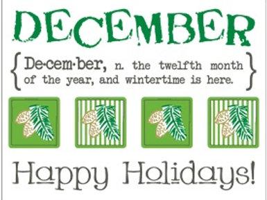 Monthly Memories - December