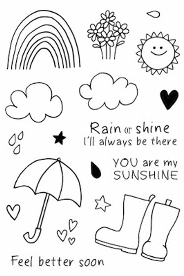 Rain or Shine - Jane's Doodles Stamp