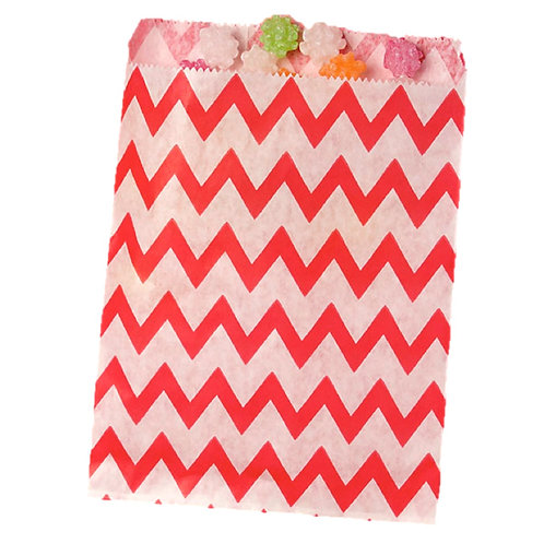 Patterned Bags - LARGE - Red Chevron