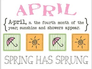 Monthly Memories - April