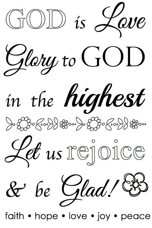 77048 God is Love Clear Stamp