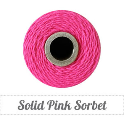 Solid Pink Sorbet Twine