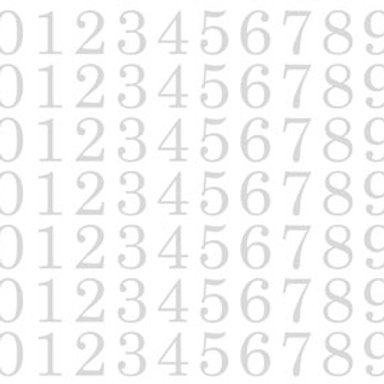 48096 Large Numbers - White