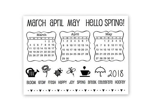 Spring Plans - Planner Clear Stamp