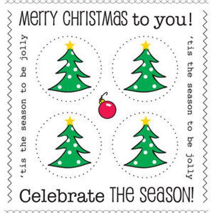 54006 Christmas Tree Stickers PLUS