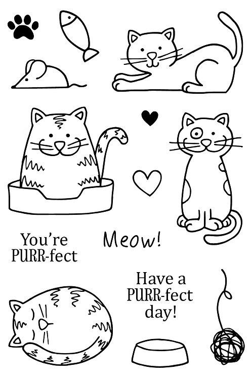 A Cat's Life - Jane's Doodles Stamp