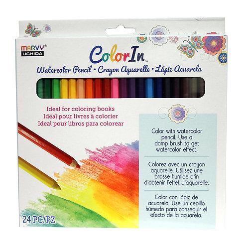 24 Piece Water Color Pencil Set