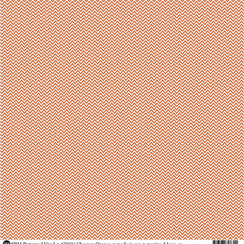 Patterned Vinyl  - Orange Chevron - 10 sheets