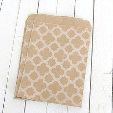 Kraft Lattice Patterned Bags