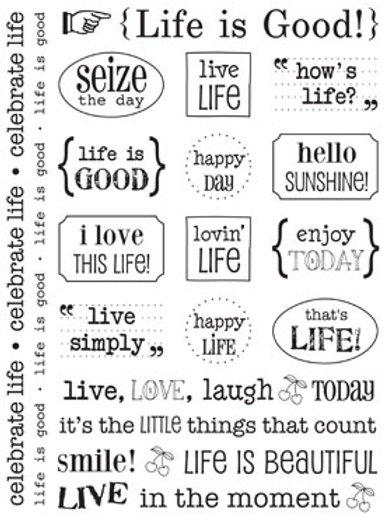 51014 Life is Good Sticker Sentiment