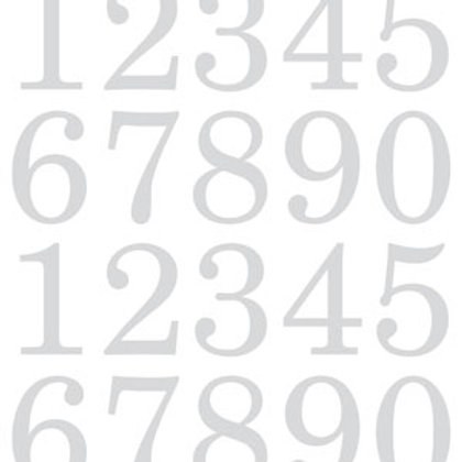 Numbers Extra Large White