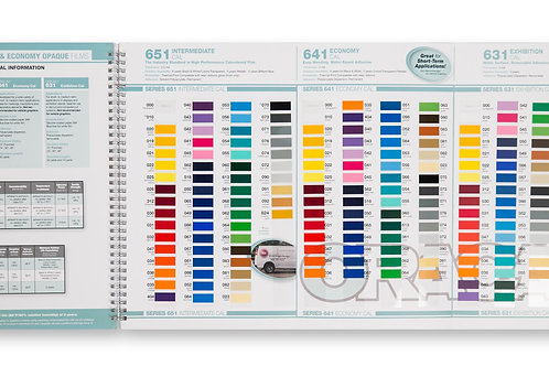 Oracal Color Swatch Book