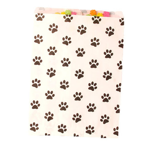 Paw Print Patterned Bags - LARGE - Black/White