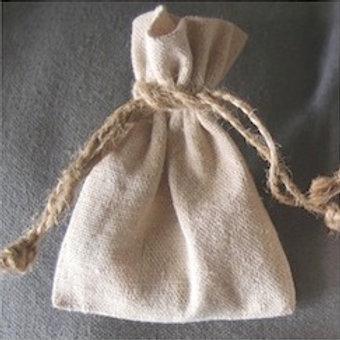 Rustic Linen  Bag, Medium