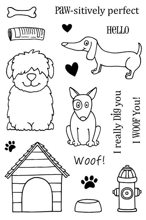 A Dog's Life - Jane's Doodles Stamp