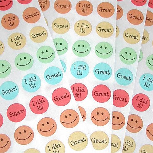 Tiny Sticker - Happy Face - 1 Dozen