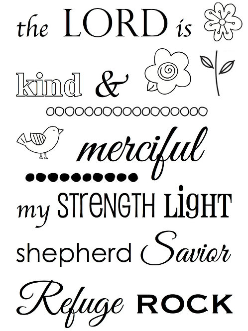 77049 The Lord is... Clear Stamp