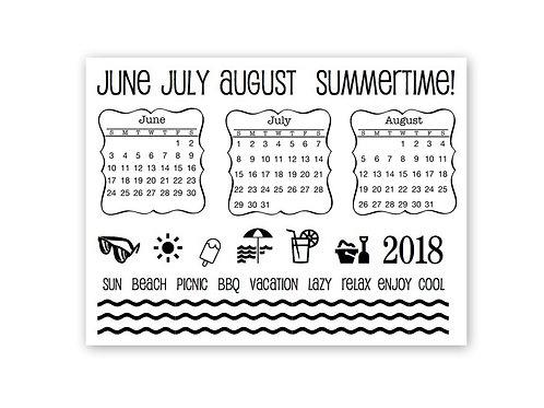 Summer Plans - Planner Clear Stamp