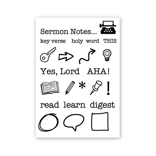 Sermon Notes - Bible Journaling Stamp