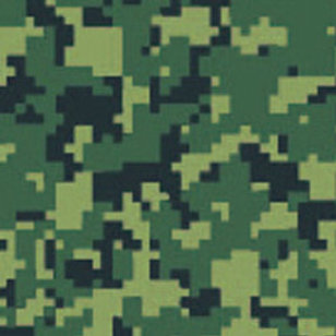 Digital Camo Green Patterned Heat Transfer