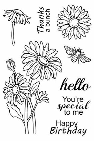 Daisies - Jane's Doodles Stamp