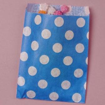 Royal Blue Dot Bags