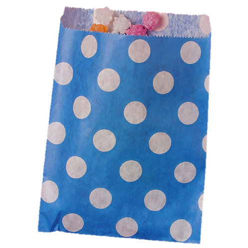 Patterned Bags - LARGE -Royal Blue Dots