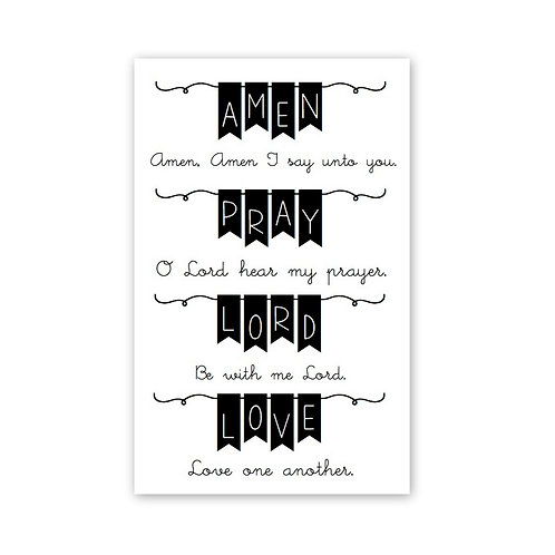 Bible Banners Bible Journaling Clear Stamp