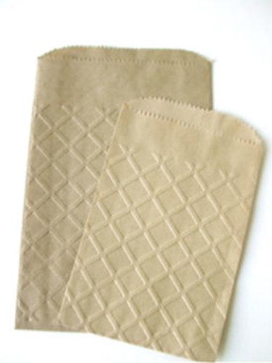 """70002EL Kraft Bag Embossed  5"""" x 7 1/2"""""""