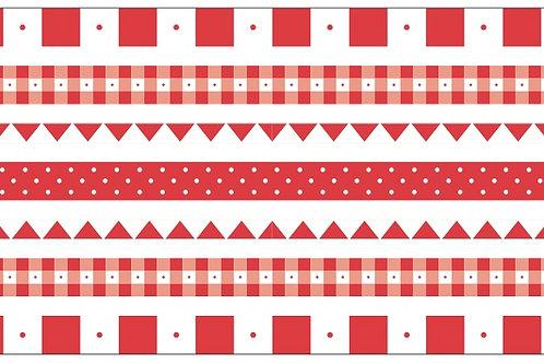 Little Borders #26050 -Red & White - 1 Dozen