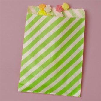 Lime Green Stripe Bags