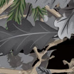Camo Hunter Oak Grey Patterned Heat Transfer