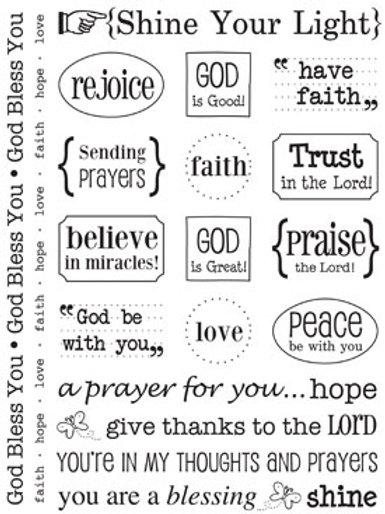 51015 Faith Sticker Sentiment