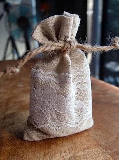 Linen & Lace Bag, Medium