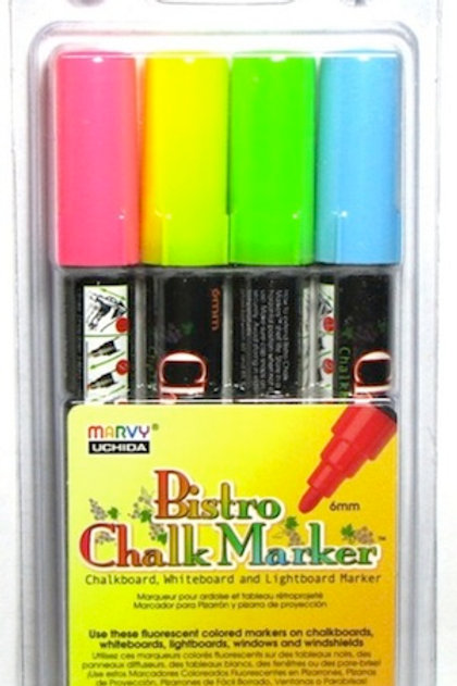 #480-4A Bistro Chalk Marker Fluorescent 6mm Tip