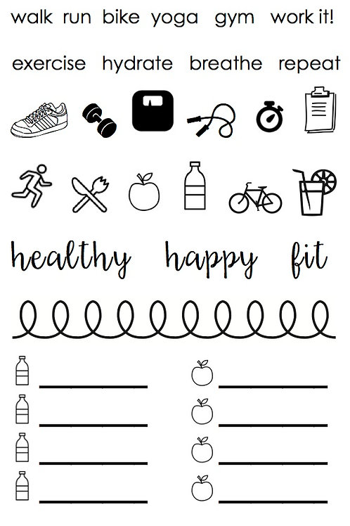 Healthy Plans - Planner Stamp