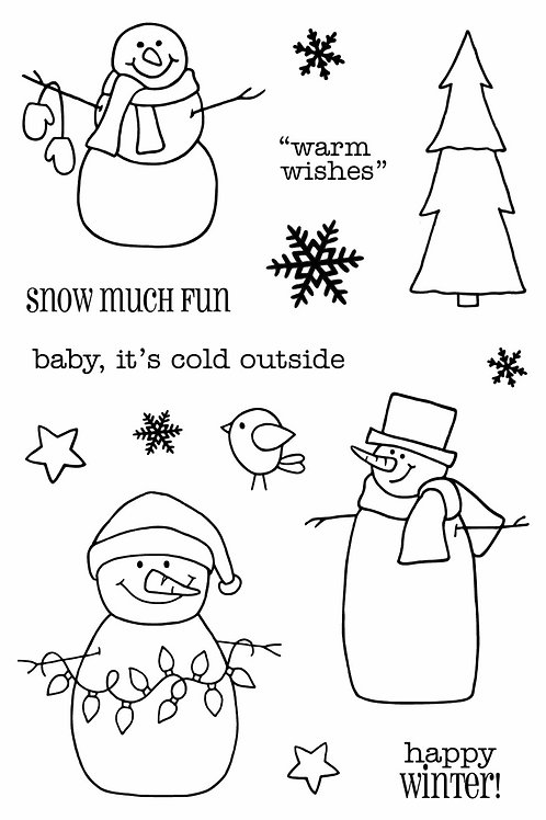 Warm Wishes - Jane's Doodles Stamp
