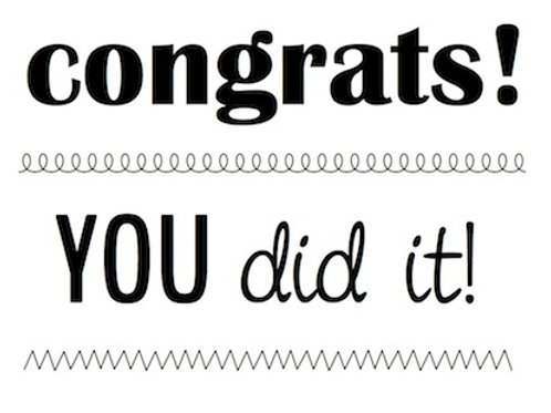 77026 BIG Congrats Clear Stamp