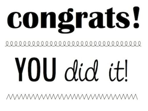 77026 BIG Congrats Clear Stamp