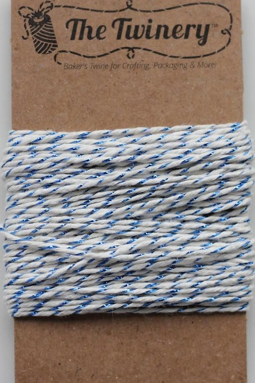 Blue Shimmer Twinery Twine, Packaged
