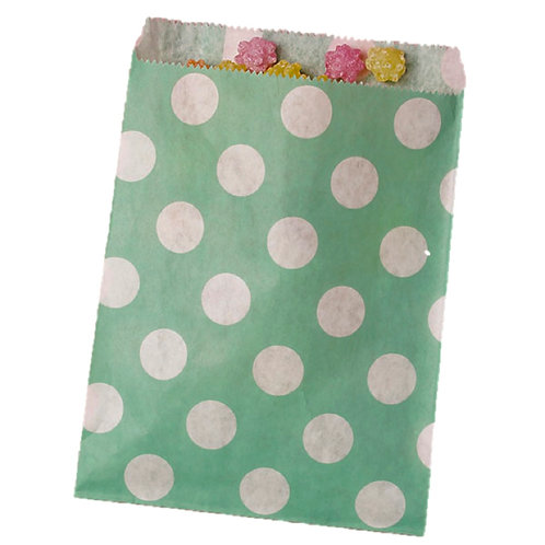 Patterned Bags - LARGE - Teal Dots