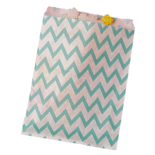 Patterned Bags - LARGE - Turquoise Chevron